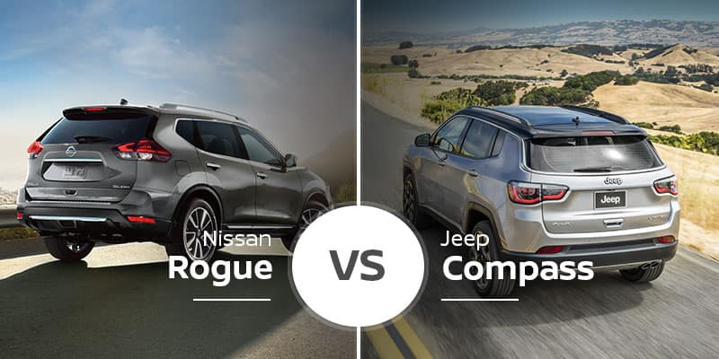 Nissan Rogue Vs Jeep Compass Compact Crossover Comparison