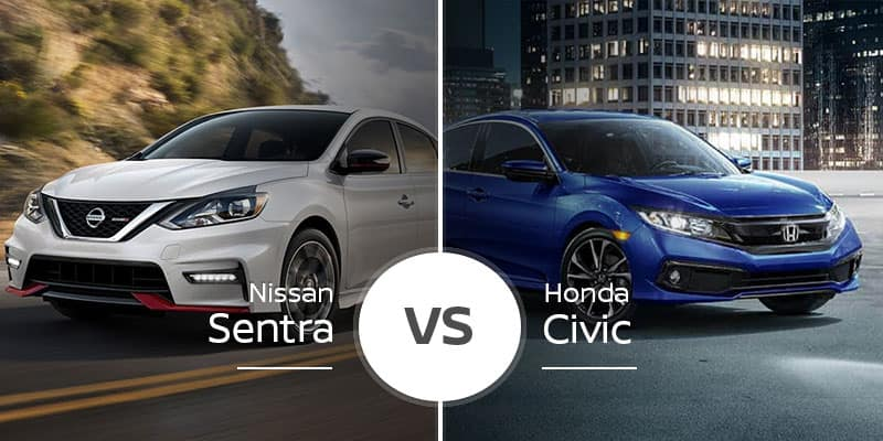 Nissan Vs Honda >> Nissan Sentra Vs Honda Civic Compact Sedan Showdown
