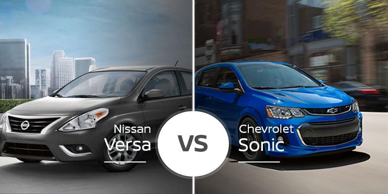 Nissan Versa Vs Chevy Sonic Subcompact Sedans With Space To Spare
