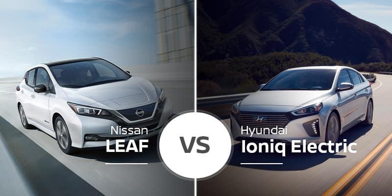 Nissan LEAF Vs  Hyundai Ioniq Electric | Nissan of Bradenton