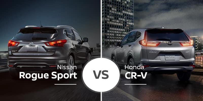 Rogue Vs Crv >> 2019 Nissan Rogue Sport Vs 2019 Honda Cr V