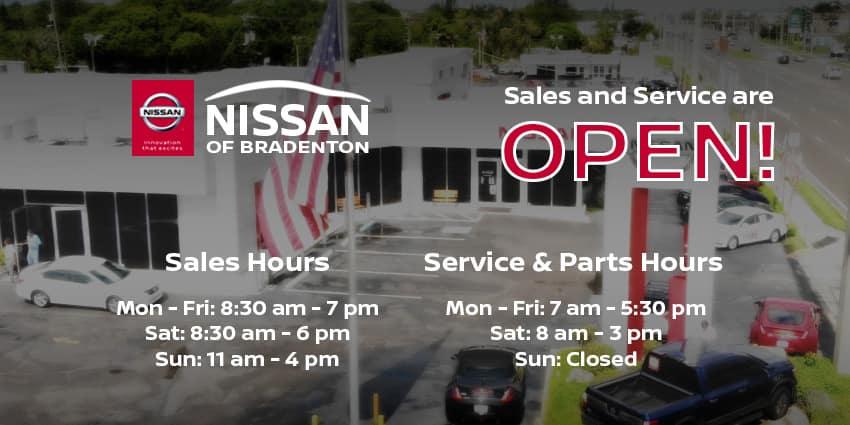 Service Sales Home Banner - 850 x 425- Bradenton Sales Hours Update