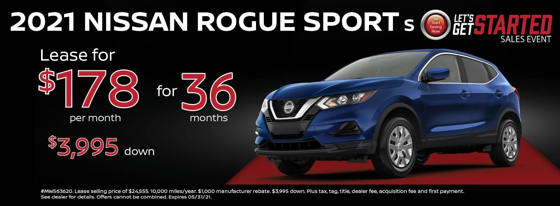 21 Rogue Sport 178 mo