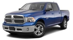 A blue 2020 Ram 1500 Classic is facing left.