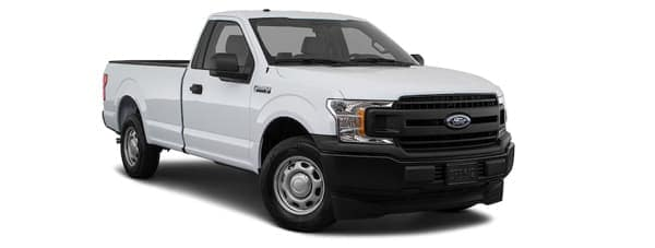 A white 2020 Ford F-150 XL is angled right on a white background.
