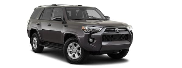A dark grey 2020 Toyota 4Runner is angled right.