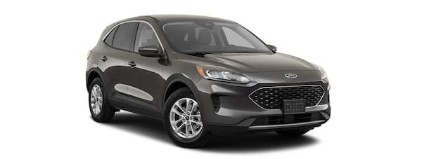 A b lack 2020 Ford Escape is angled right.