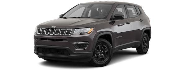 A gray 2020 Jeep Compass is angled left.