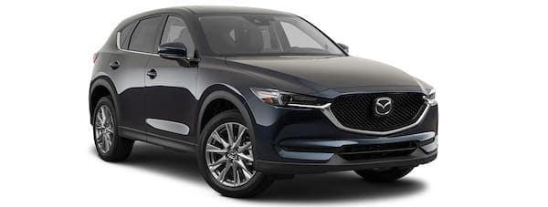 A black 2020 Mazda CX-5 is angled right.