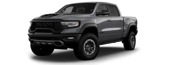 A gray 2021 Ram TRX is angled left.
