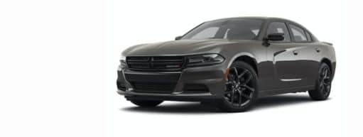 A grey 2021 Dodge Charger is angled left.