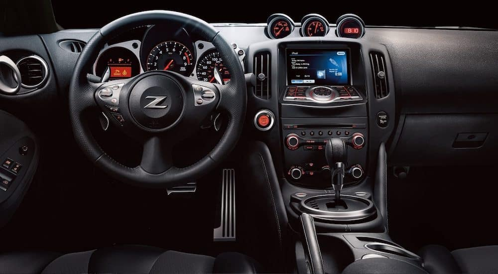 Black leather 2019 Nissan 370z coupe interior