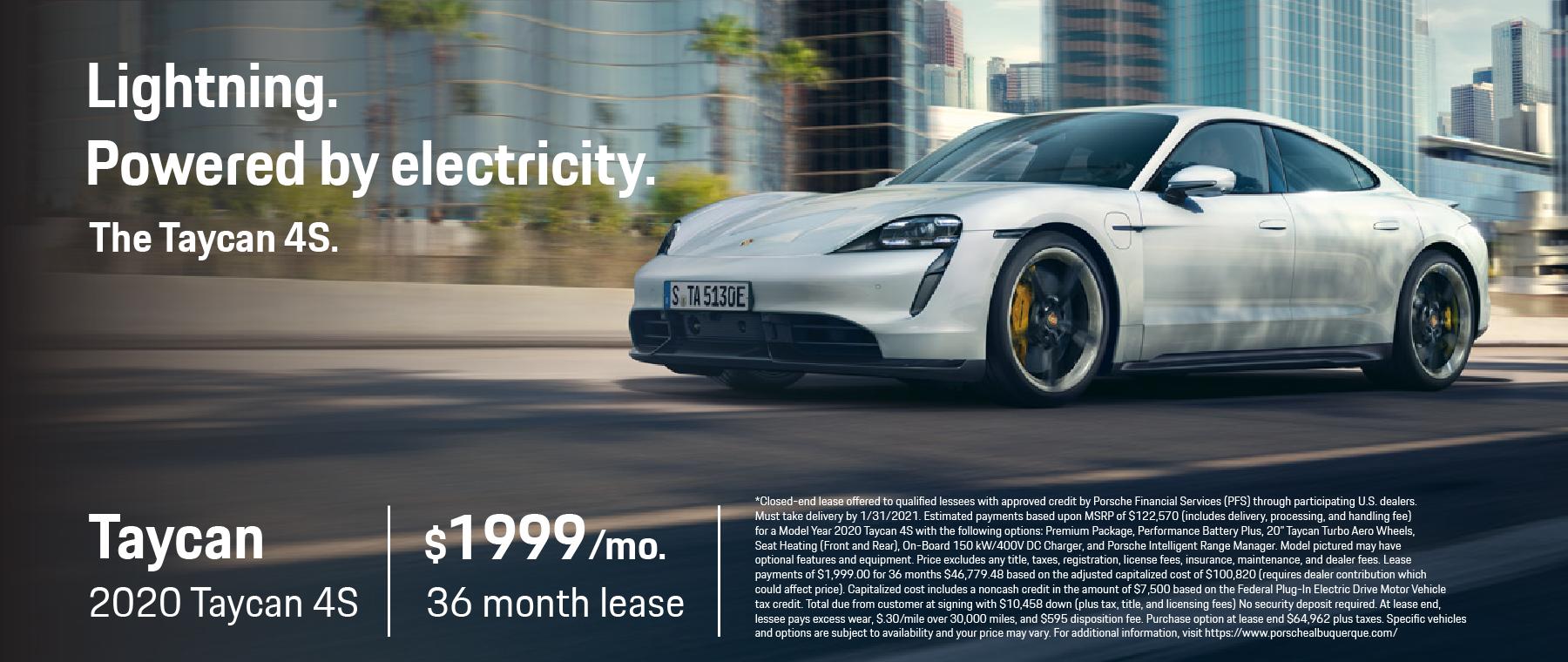 Porsche Albuquerque – Taycan 4S Lease Offer