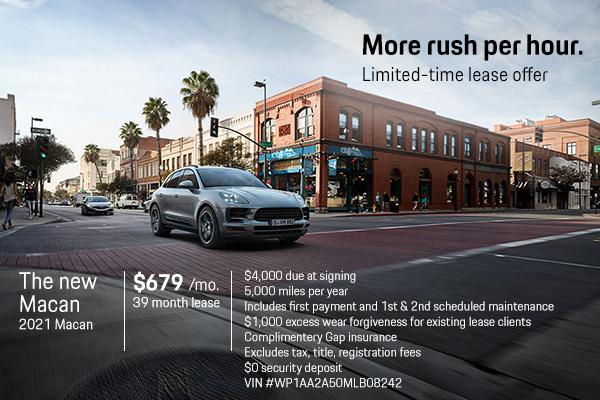 New 2021 Porsche Macan $679 Per Month