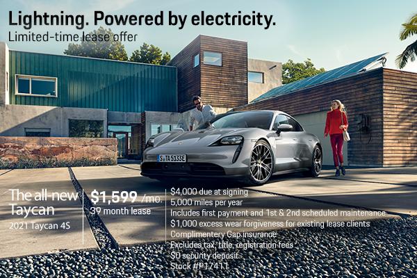 New 2021 Porsche Taycan 4S $1,599 Per Month