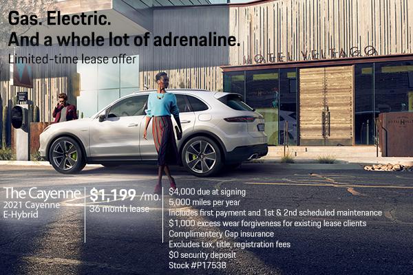 New 2021 Porsche Cayenne E-Hybrid $1,199 Per Month