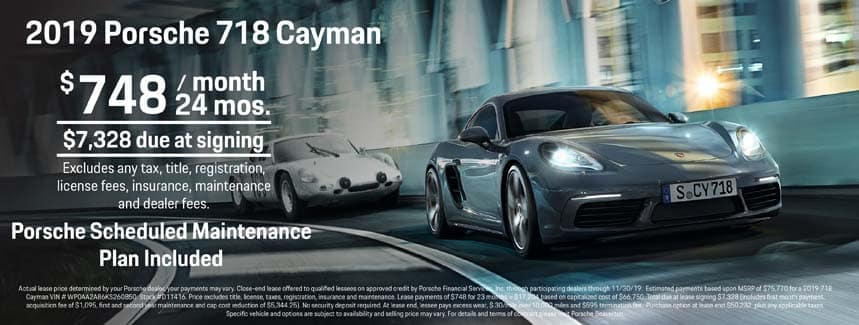 2019 718 Cayman Lease - 24 Months at $748 per Month - PSMP Included