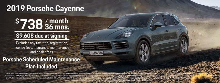 2019 Porsche Cayenne Lease - $738 per Month for 36 Months - PSMP Included