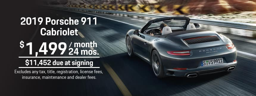 2019 911 Carrera Cabriolet Lease - $1,499 per Month for 24 Months