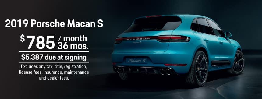 2019 Porsche Macan S Lease - $785 per Month for 36 Months