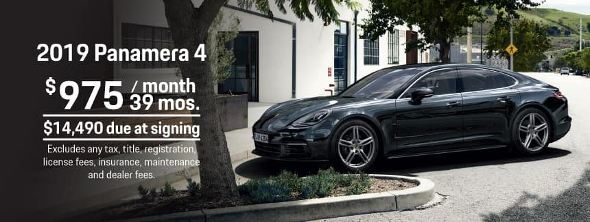 2019 Porsche Panamera 4 Lease - $975 per Month for 39 Months