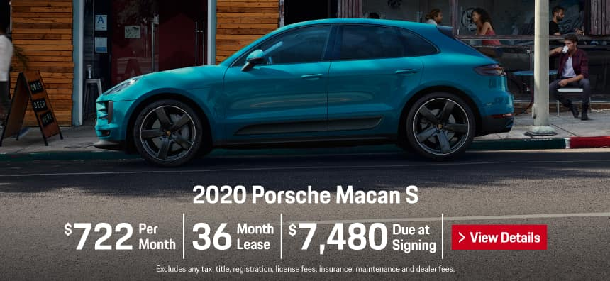 2020 Porsche Macan S Lease - $722 per Month for 36 Months