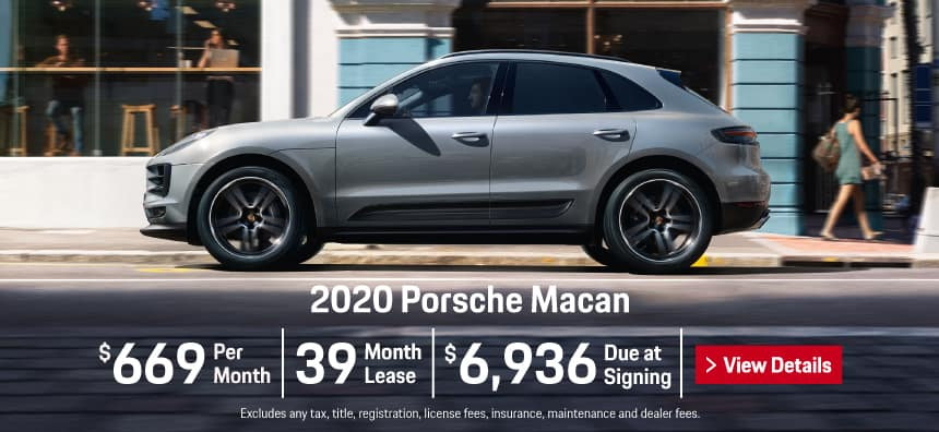 2020 Porsche Macan Lease - $669 per Month for 39 Months