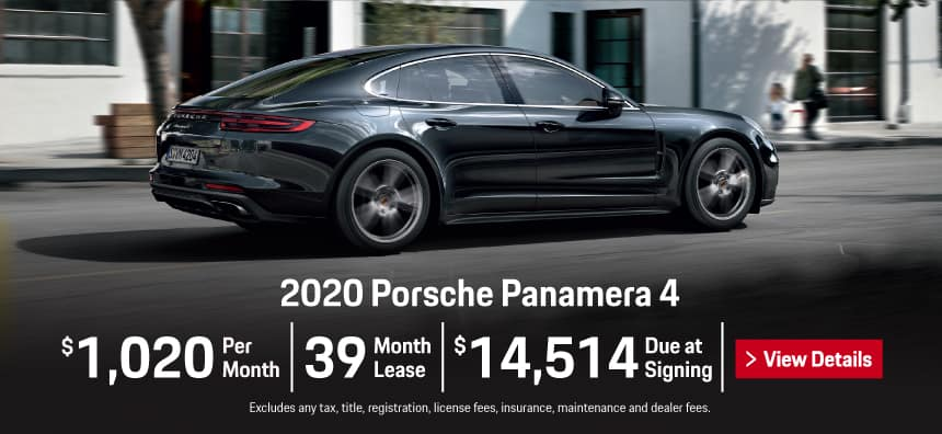 2020 Panamera 4 Lease - $1,020 per Month for 39 Months