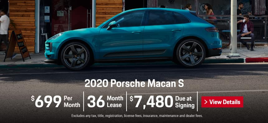 2020 Porsche Macan S Lease - $699 per Month for 36 Months