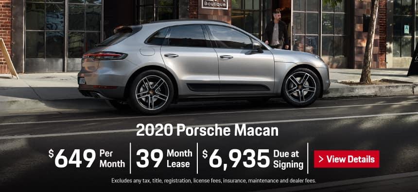 2020 Porsche Macan Lease - $649 per Month for 39 Months