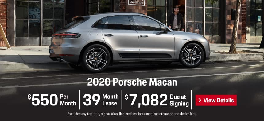 2020 Porsche Macan Lease - $550 per Month for 39 Months