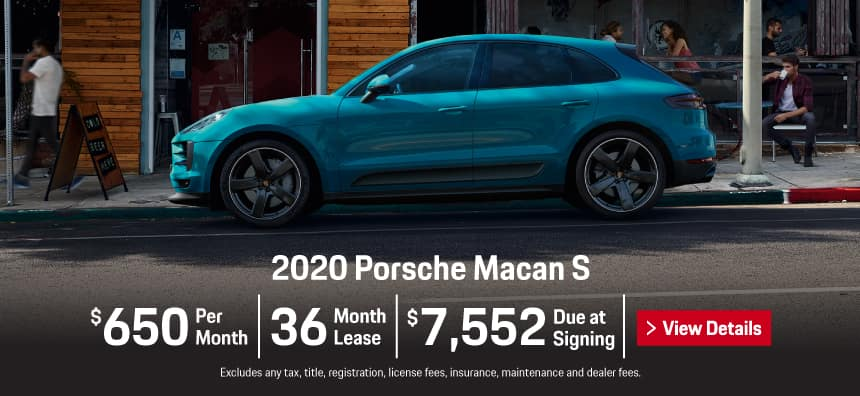 2020 Porsche Macan S Lease - $650 per Month for 36 Months