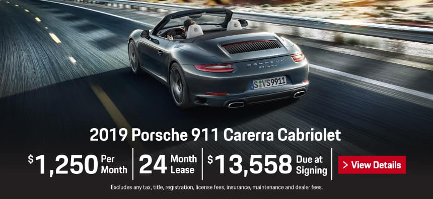 2019 911 Carrera Cabriolet Lease - $1,250 per Month for 24 Months