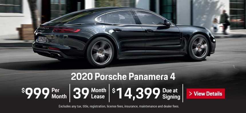 2020 Panamera 4 Lease - $999 per Month for 39 Months