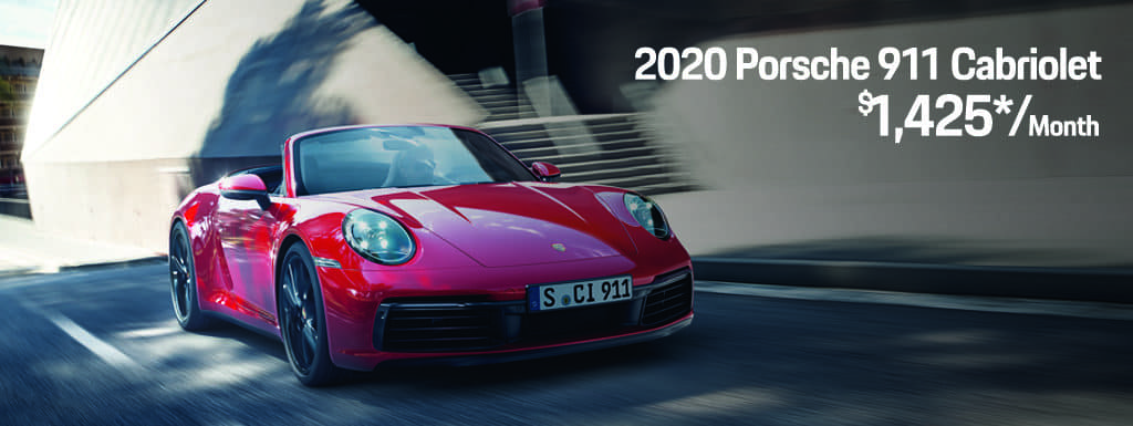 2020 911 Carrera Cabriolet Lease - $1,425 per Month for 24 Months -$9,743 Due at Signing