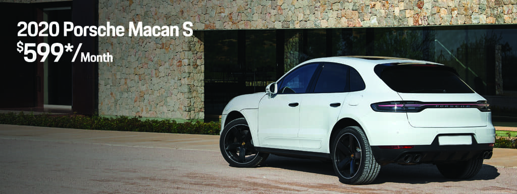 2020 Porsche Macan S - $599 per Month for 36 Months - $8,101 Due at Signing