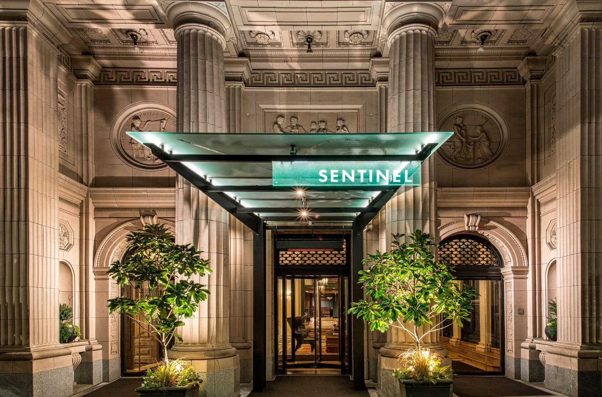 Front of Sentinel Hotel