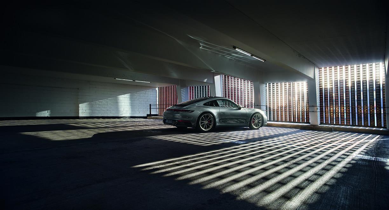 2020 Porsche 911 Carrera S 3/4 Rear View