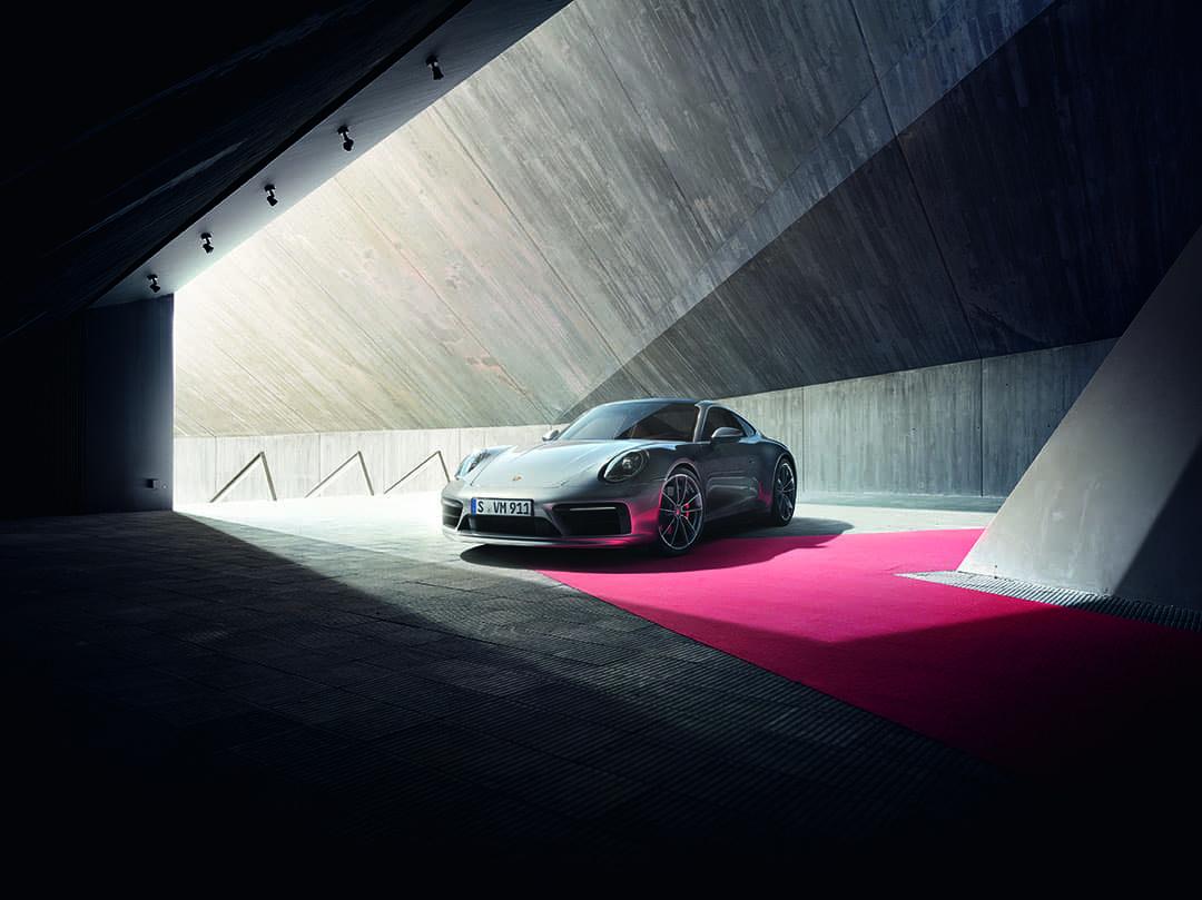 2020 Porsche 911 Carrera S 3/4 Front View