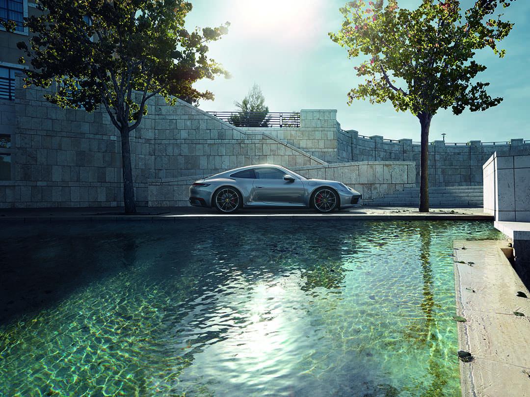 2020 Porsche 911 Carrera S Side View over water
