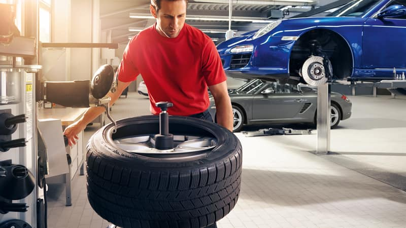 Replacement of the tire