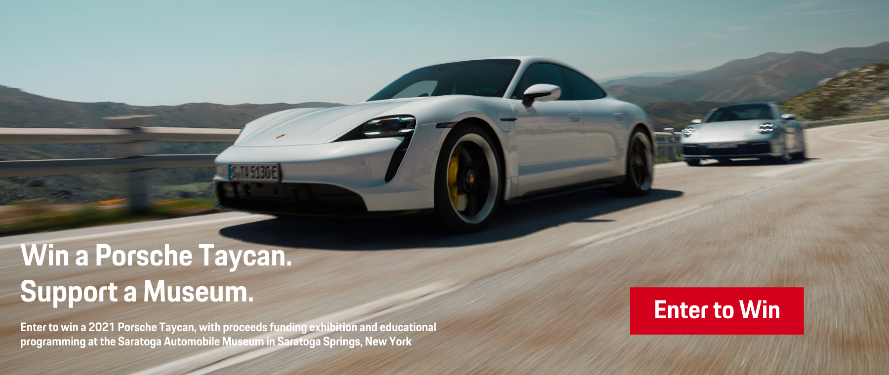 Win a Porsche Taycan. Support a Museum. (1)