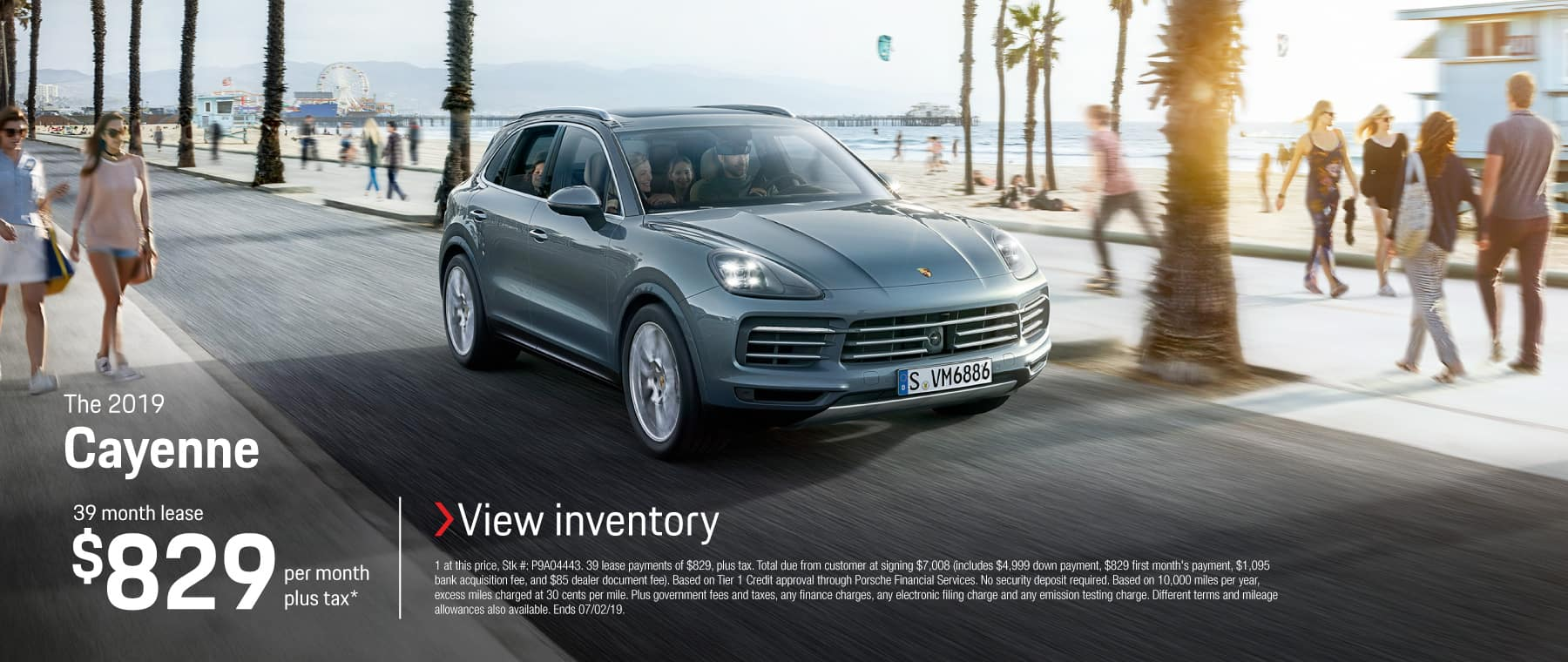 2019 Cayenne 39 month lease $829 per month plus tax