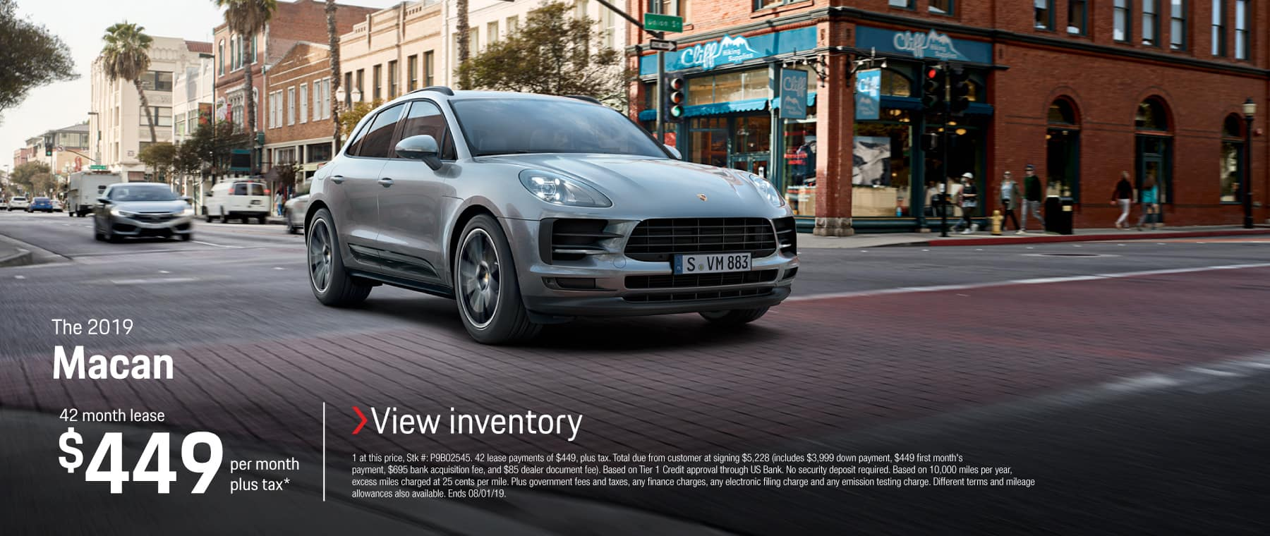 2019 Macan Lease 449 42 months