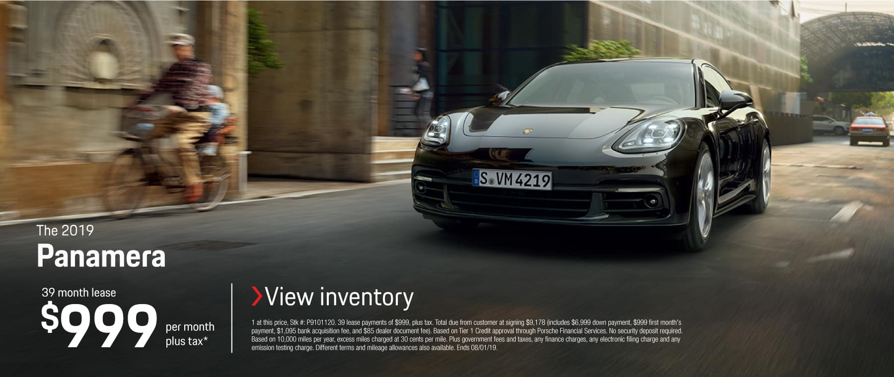 2019 Panamera Lease 999 39 month lease