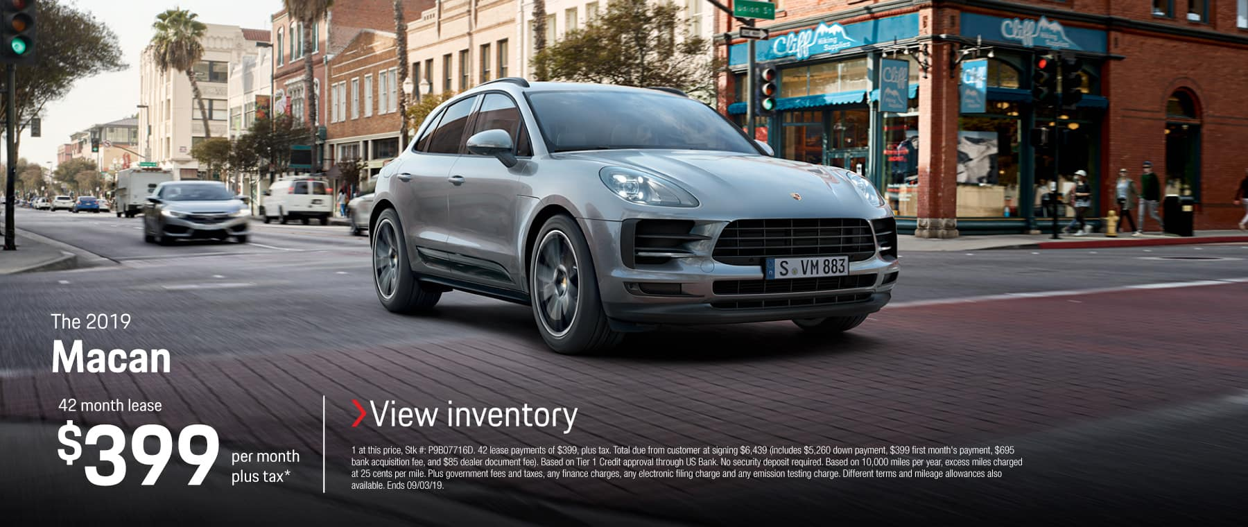 2019 MACAN LEASE 399 / 42 MONTHS
