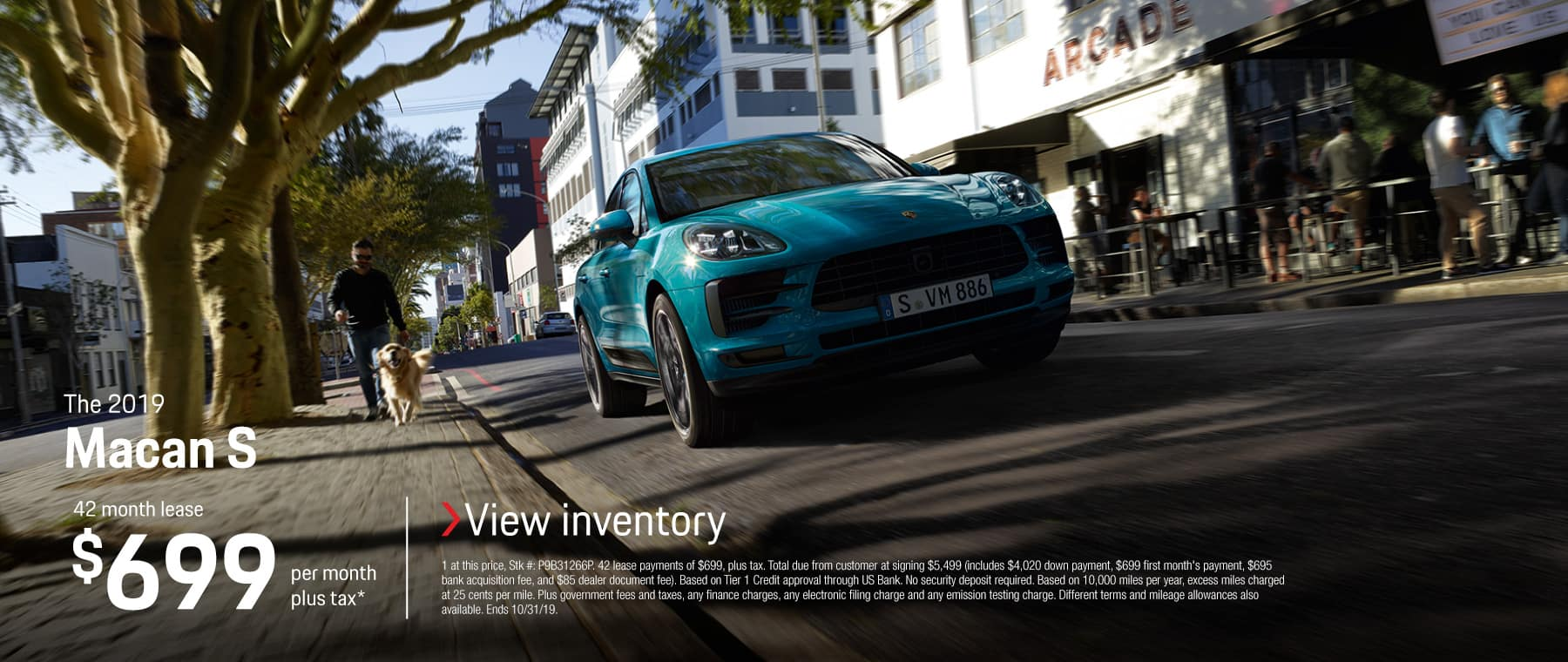 2019 MACAN S LEASE 699 / 42 MONTHS
