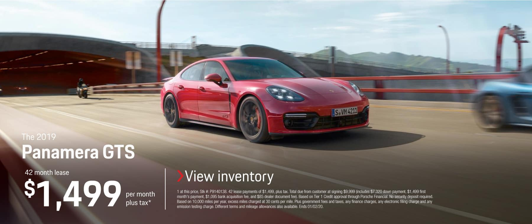 2019 PANAMERA GTS LEASE 1499 / 42 MONTHS