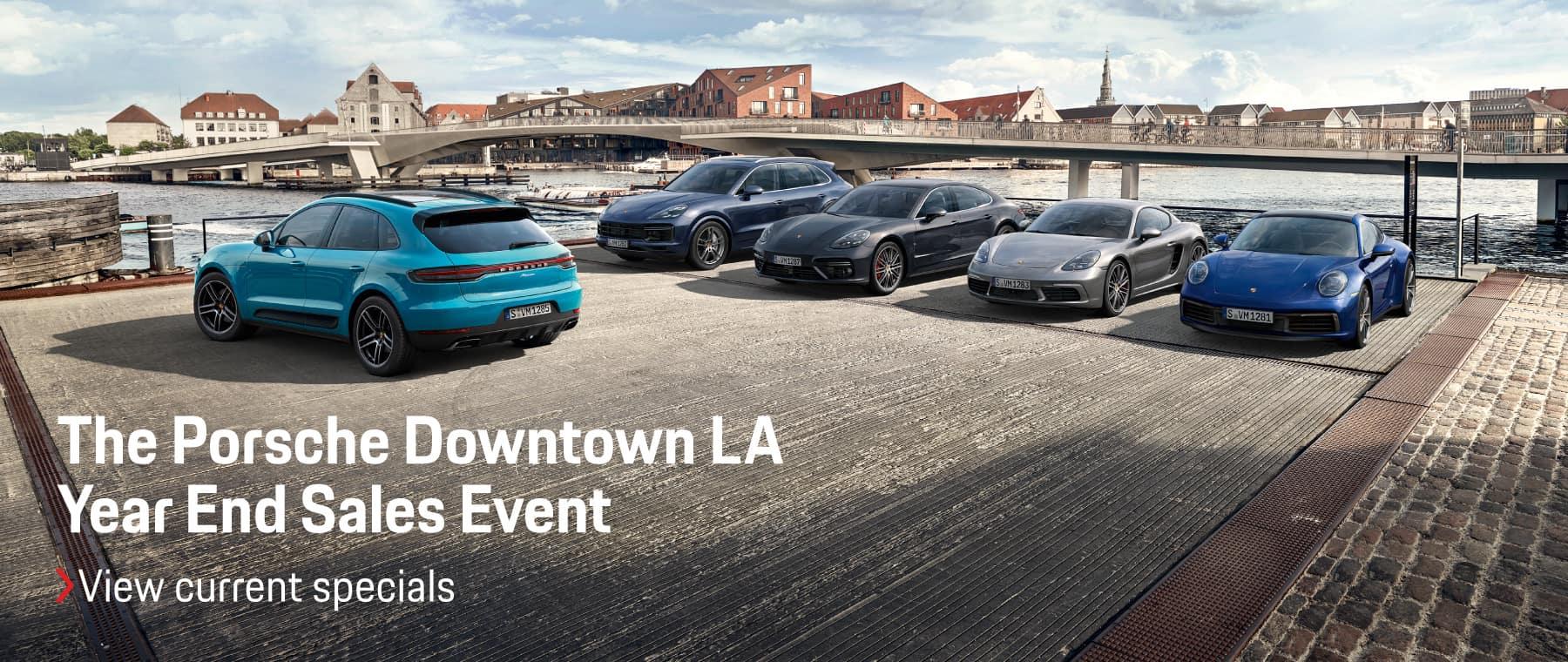 The Porsche Downtown LA Year End Sales Event