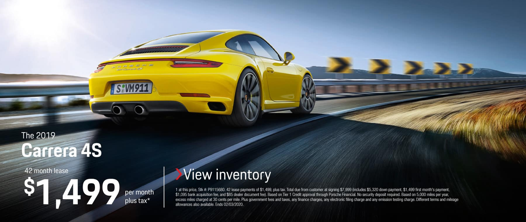 2019 CARRERA 4S LEASE 1499 / 42 MONTHS